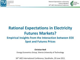 Background: Liberalised electricity markets  ?  (Wholesale) markets  established