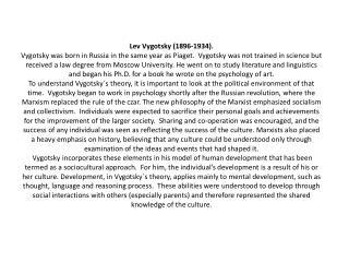 Lev+Vygotsky+(1896 1934)
