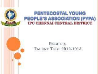 Results Talent Test 2012-1013