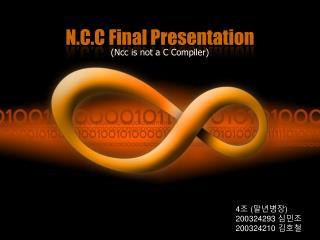 N.C.C Final Presentation