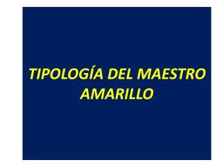 TIPOLOGÍA DEL MAESTRO AMARILLO