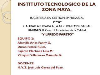 INSTITUTO TECNOLOGICO DE LA ZONA MAYA.