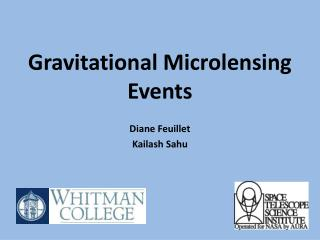 Gravitational Microlensing  Events