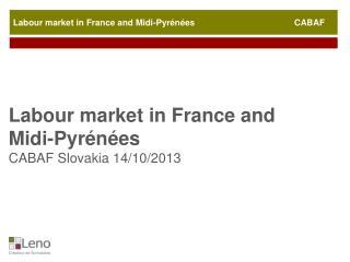 Labour  market  in France and Midi-Pyrénées                                         CABAF