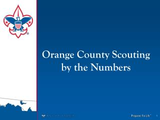 Orange County Scouting   by the Numbers