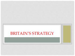 Britain's Strategy
