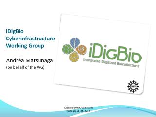 iDigBio Cyberinfrastructure  Working Group