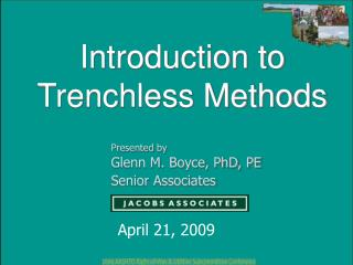 Introduction to Trenchless Methods