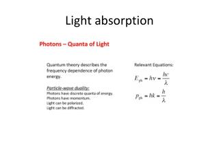 Light absorption