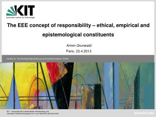 The  EEE  concept  of  responsibility  –  ethical ,  empirical  and  epistemological constituents