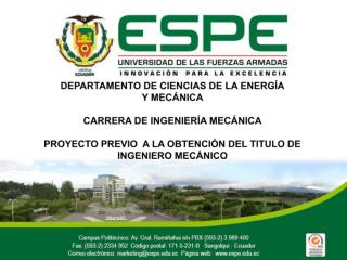 DEPARTAMENTO  DE CIENCIAS DE LA ENERGÍA Y  MECÁNICA