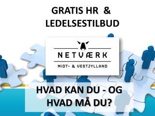 GRATIS HR &  LEDELSESTILBUD