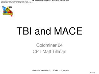 TBI and MACE