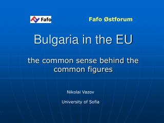 Bulgaria in the EU