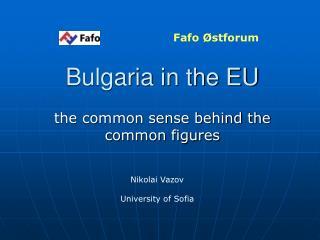 Bulgaria in the EU