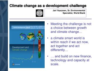 Climate change as a development challenge