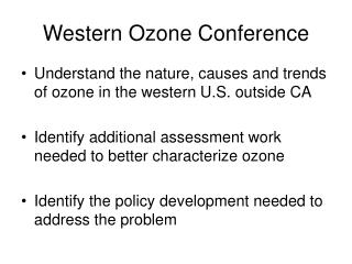 Western Ozone Conference