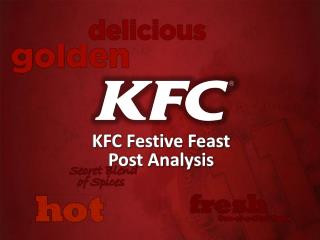 KFC Festive Feast  Post Analysis