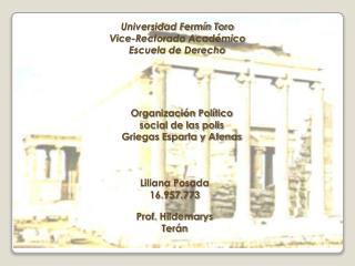 Universidad Fermín Toro Vice-Rectorado Académico Escuela de Derecho