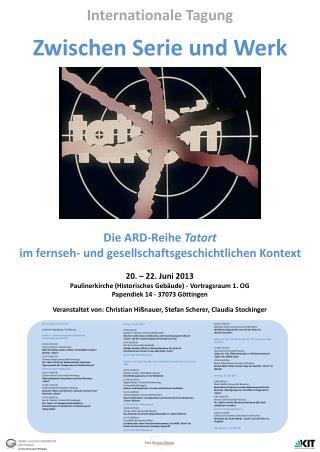 Zwischen Serie und Werk Die ARD-Reihe  Tatort im fernseh- und gesellschaftsgeschichtlichen Kontext