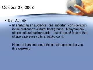 October 27, 2008