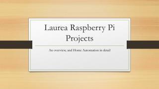 Laurea  Raspberry Pi Projects
