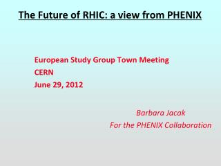 The Future of RHIC: a view from PHENIX