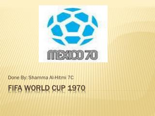 Fifa  world cup 1970