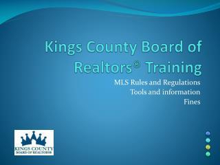 Kings  County Board of Realtors® Training