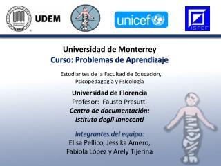 Universidad de Monterrey Curso: Problemas de Aprendizaje