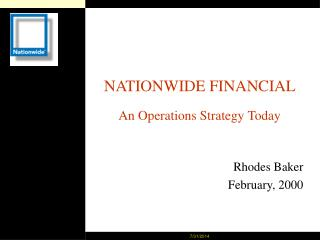 NATIONWIDE FINANCIAL  An Operations Strategy Today