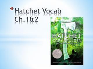 Hatchet Vocab Ch.1&2