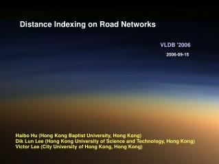 Distance Indexing on Road Networks