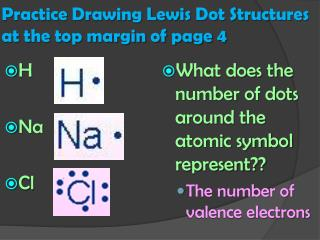 Practice Drawing Lewis Dot Structures at the top margin of page 4