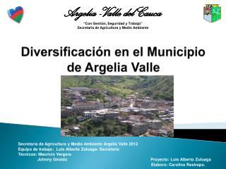 Diversificación en el Municipio de Argelia Valle