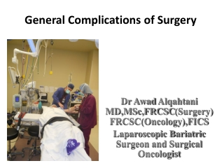 Post operative complications