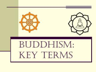 Buddhism: Key Terms