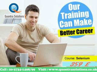 Selenium inclass and online Training Quontra Solutions