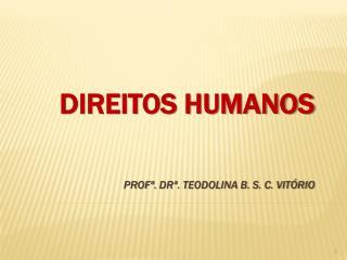 DIREITOS HUMANOS Profª.  DRª .  Teodolina B. S. C. Vitório