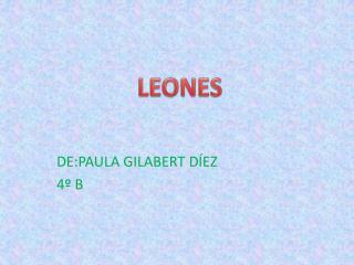 DE:PAULA GILABERT DÍEZ 4º B