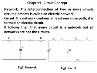 Chapter1. Circuit Concept