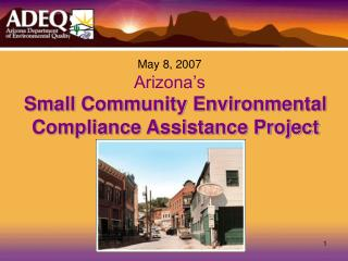 Small Community Environmental Compliance Assistance Project