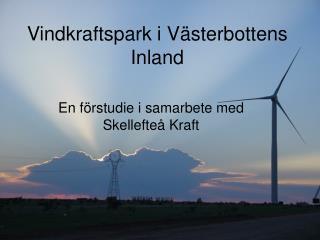 Vindkraftspark i Västerbottens Inland