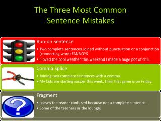 The Three Most Common Sentence Mistakes