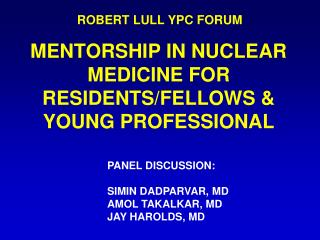 ROBERT LULL YPC  FORUM