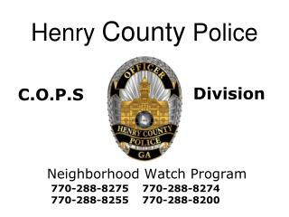 Henry  County  Police