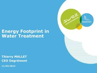Energy Footprint in Water Treatment