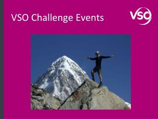 VSO Challenge Events
