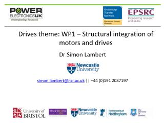 Drives theme: WP1 – Structural integration of motors and drives