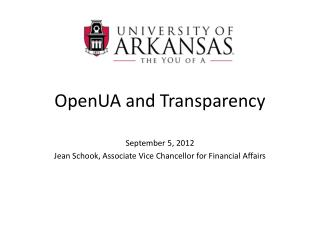 OpenUA  and Transparency
